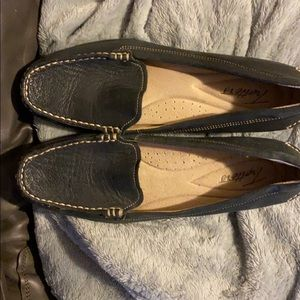 Womens Trotters Navy loafers
